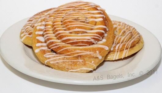 Cinnamon Bun Danish from A&S Bagels in New York