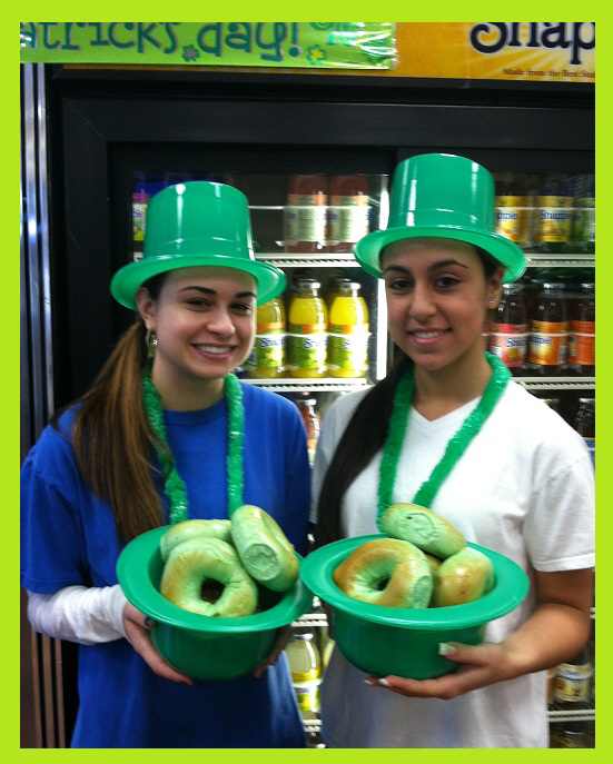 Green Bagels, St. Patrick's Day Green Bagels