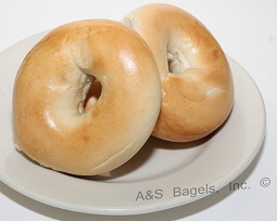 Plain Bagel from A&S Bagels