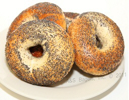 Poppy Seeded Bagel from A&S Bagels